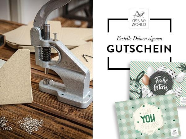 """Gutschein-Motiv für den Kiss My World-Shop """"Gestalte Deinen Gutschein"""""""