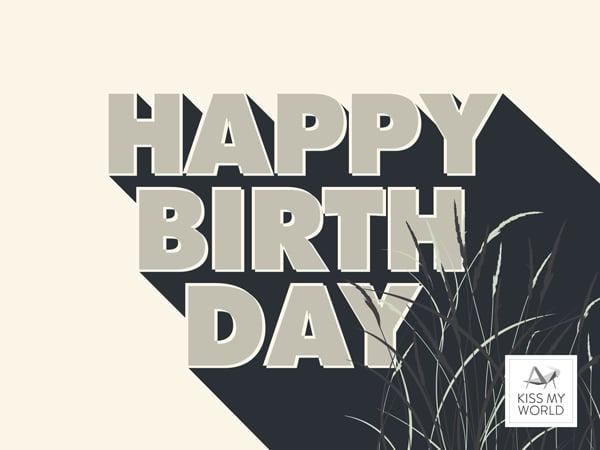 """Gutschein-Motiv für den Kiss My World-Shop """"Happy Birthday"""""""