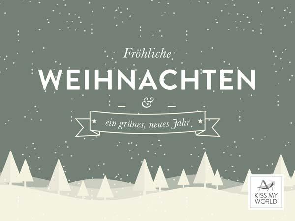 """Gutschein-Motiv für den Kiss My World-Shop """"Weihnachten"""""""